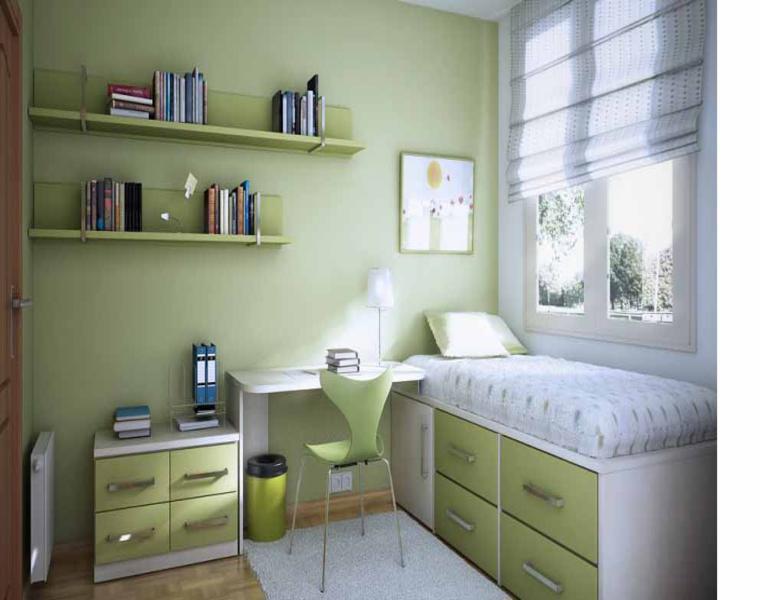 original habitación infantil verde
