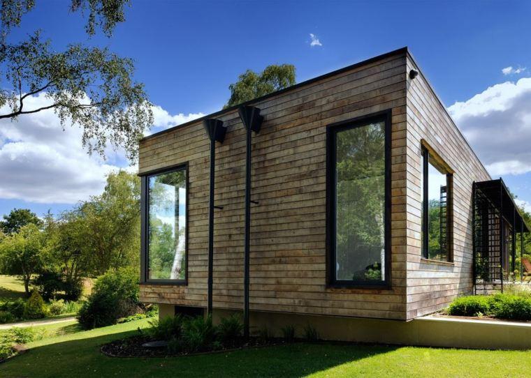 original diseno fachada madera modernqa