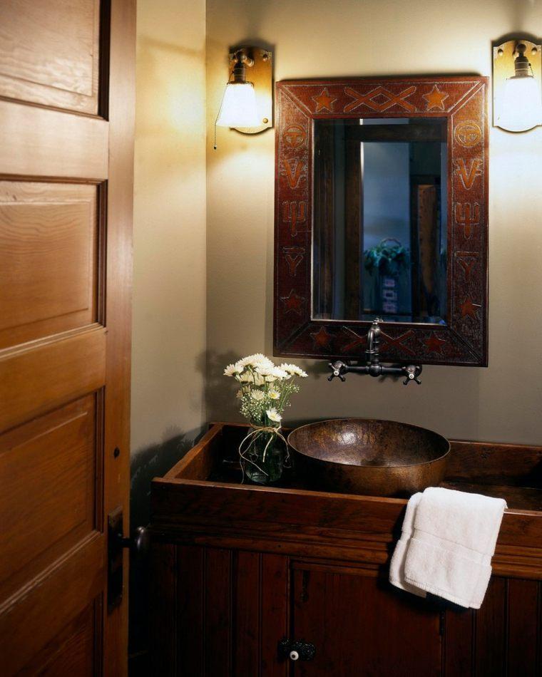 lavabos rusticos paz y relax en el cuarto de ba o. Black Bedroom Furniture Sets. Home Design Ideas