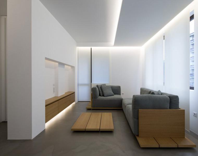 Interiores minimalistas disfruta de un espacio despejado for Muebles salon diseno minimalista