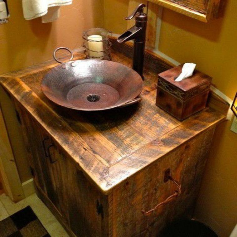 Lavabos rusticos paz y relax en el cuarto de ba o for Grifos rusticos baratos