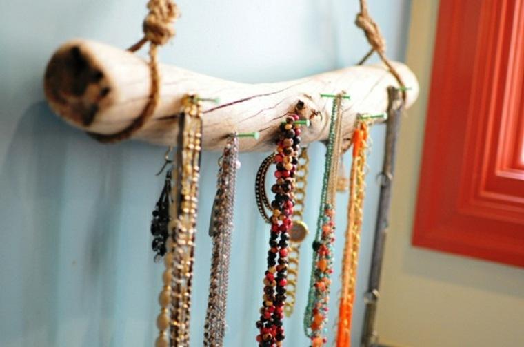 Percheros decorativos de ramas naturales 24 ideas - Para colgar collares ...