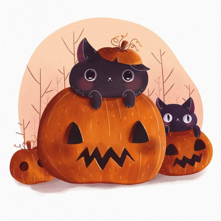 originales calabazas gatitos Susan Gonzales