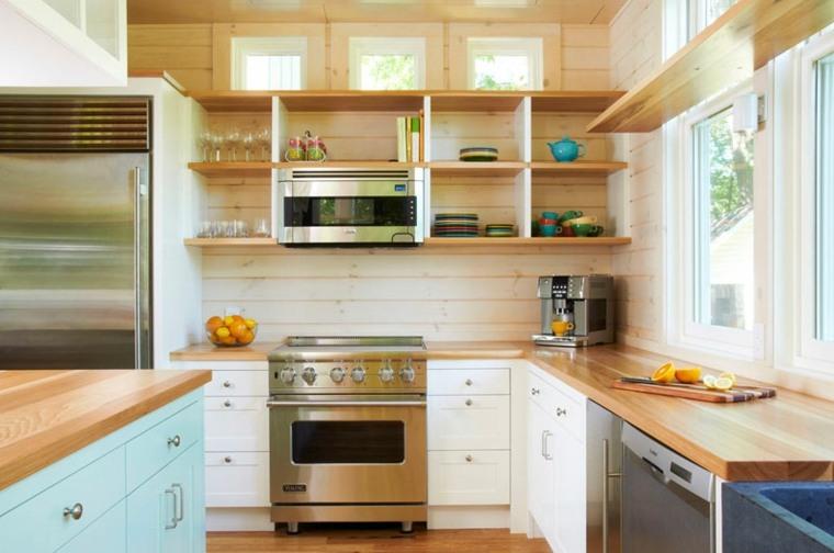 originales disenos estanterias cocina
