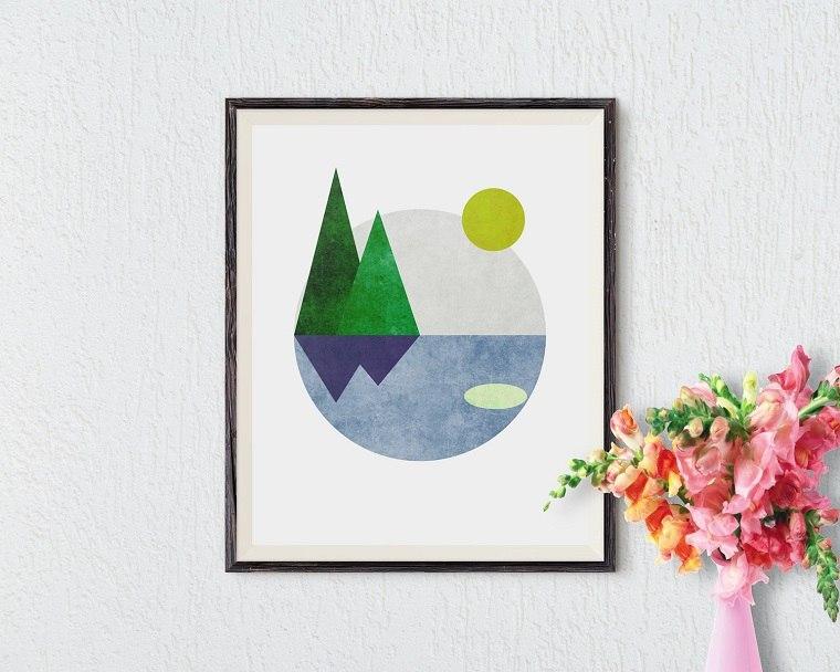 paisaje minimalista encantador formas