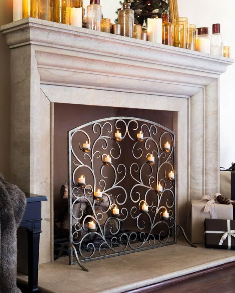 panel protector chimenea leña
