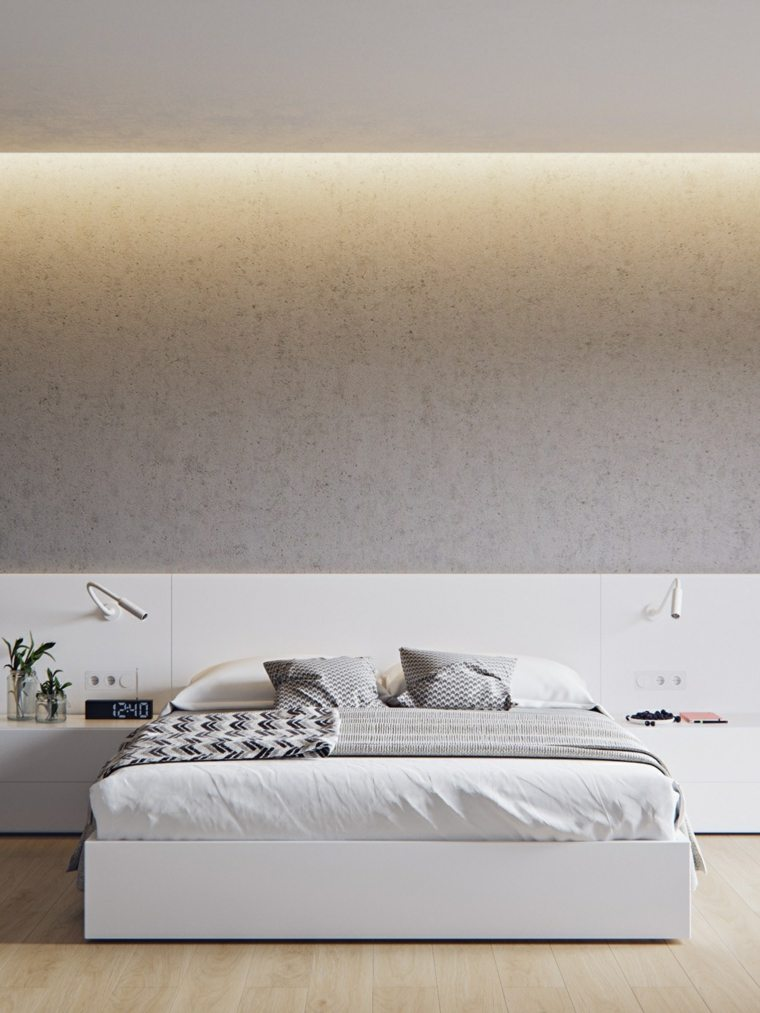pared granito iluminada led calidas