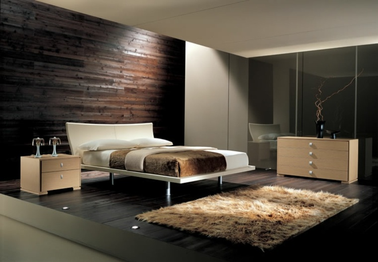 Paredes con madera para dormitorios -