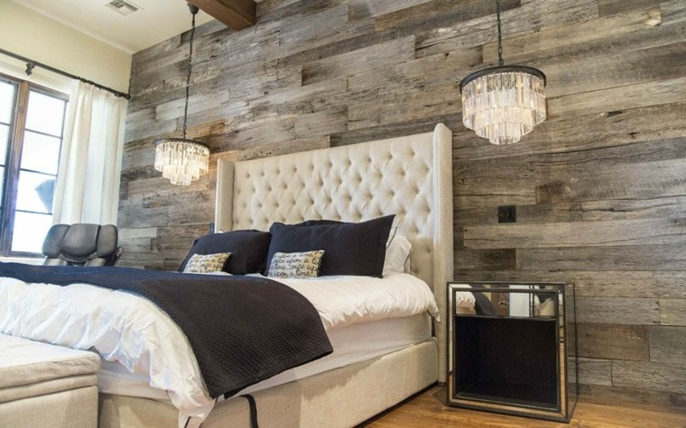 paredes con madera para dormitorios