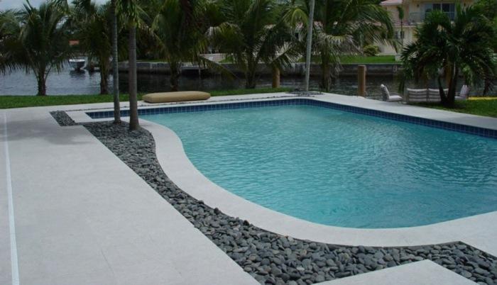 patios piscinas conceptos paredes vegetacion