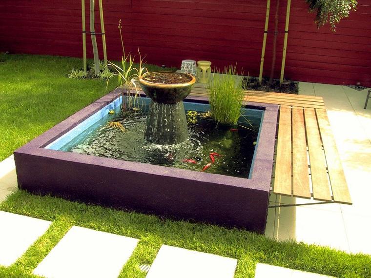 peces de agua dulce kio jardin fuente ideas