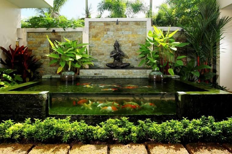 Peces de agua dulce koi para criar en el jard n moderno for Ideas para estanques de jardin