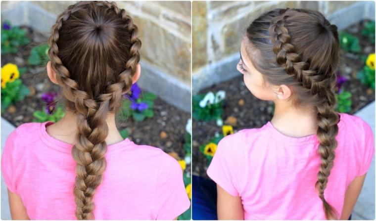 peinados de niñas con pelo largo