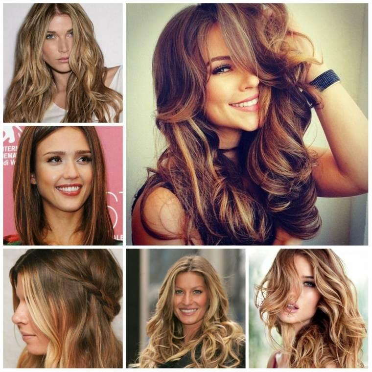peinados elegantes chicas pelo largo