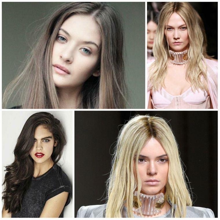 peinados elegantes mujeres pelo largo