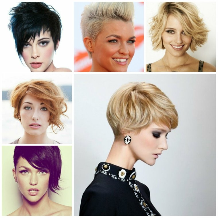 peinados elegantes para pelo corto mujeres