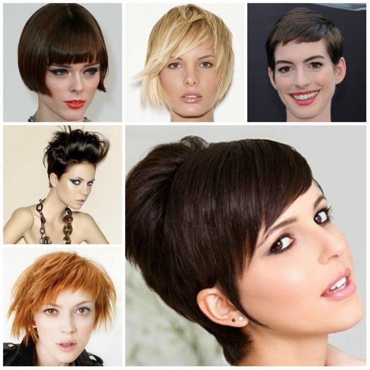 peinados elegantes para pelo corto