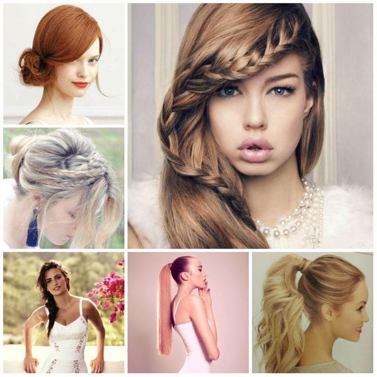 peinados elegantes pelo suelto