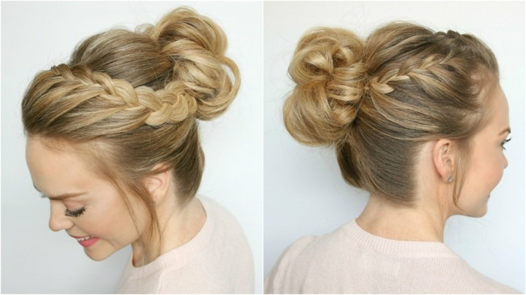 peinados elegantes y fáciles