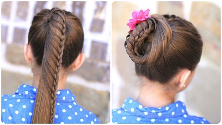 peinados para niña pequeña otoño