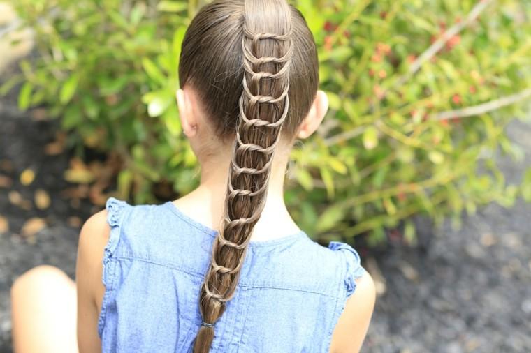 peinados para niñas pequeñas coleta