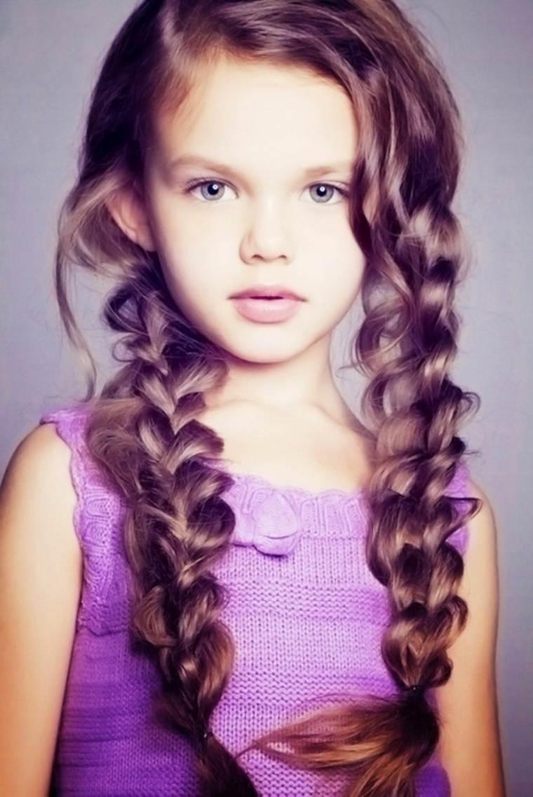 peinados para niñas pequeñas dos trenzas