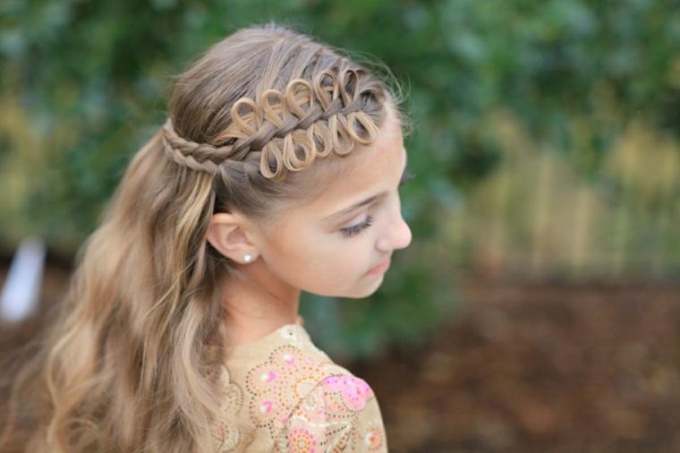 peinados para niñas pequeñas elegantes