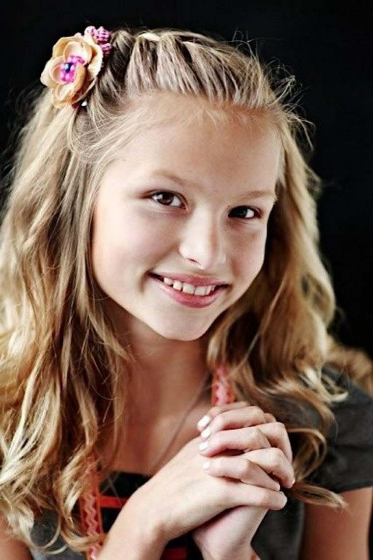 peinados para niñas pequeñas rubias