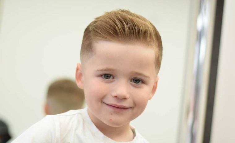 peinados para niños atrás