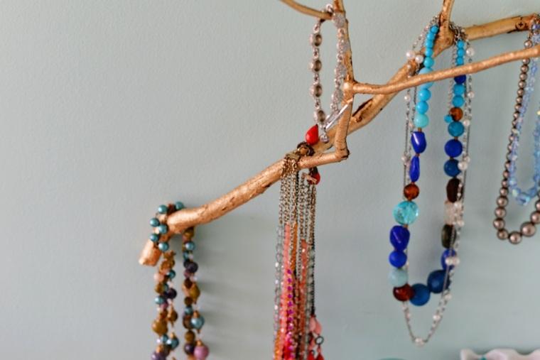 percheros joyas diy madera