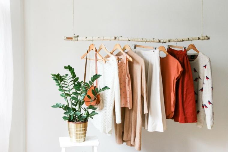 percheros naturales para ropa