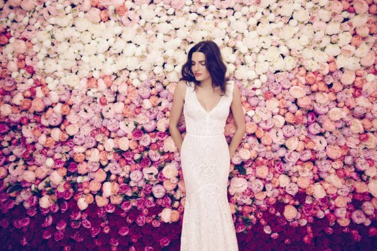 photocall para bodas diseno bello flores ideas