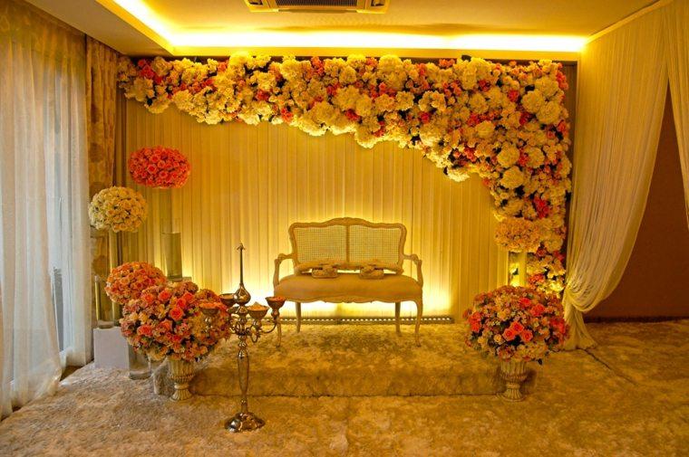 photocall para bodas diseno flores lujoso ideas