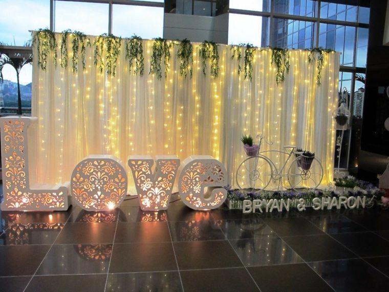 photocall bodas diseno iluminado ideas