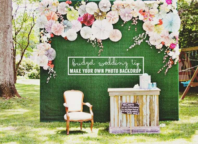 photocall para bodas diseno natural verde ideas