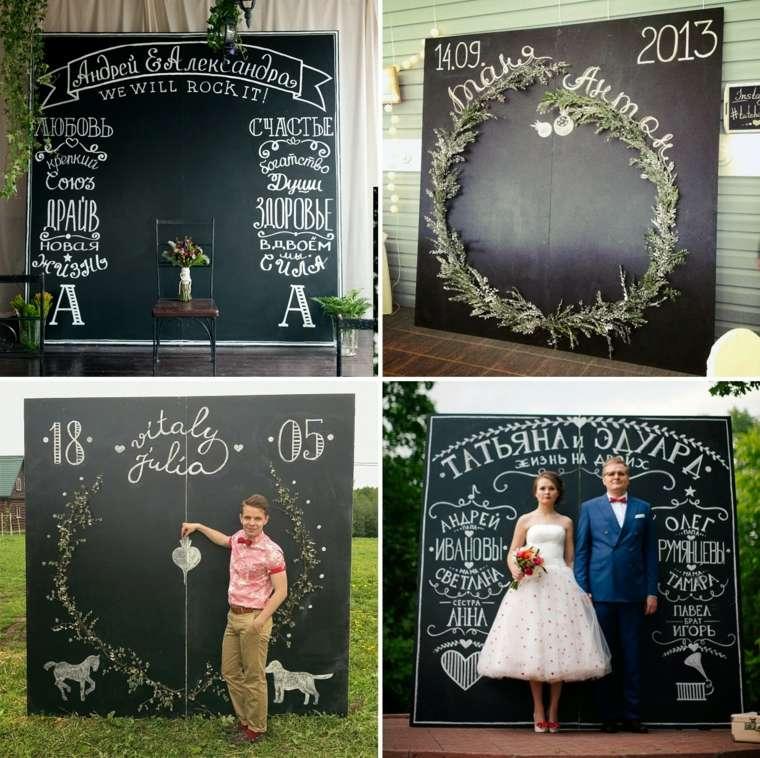 photocall para bodas diseno tipico negro ideas