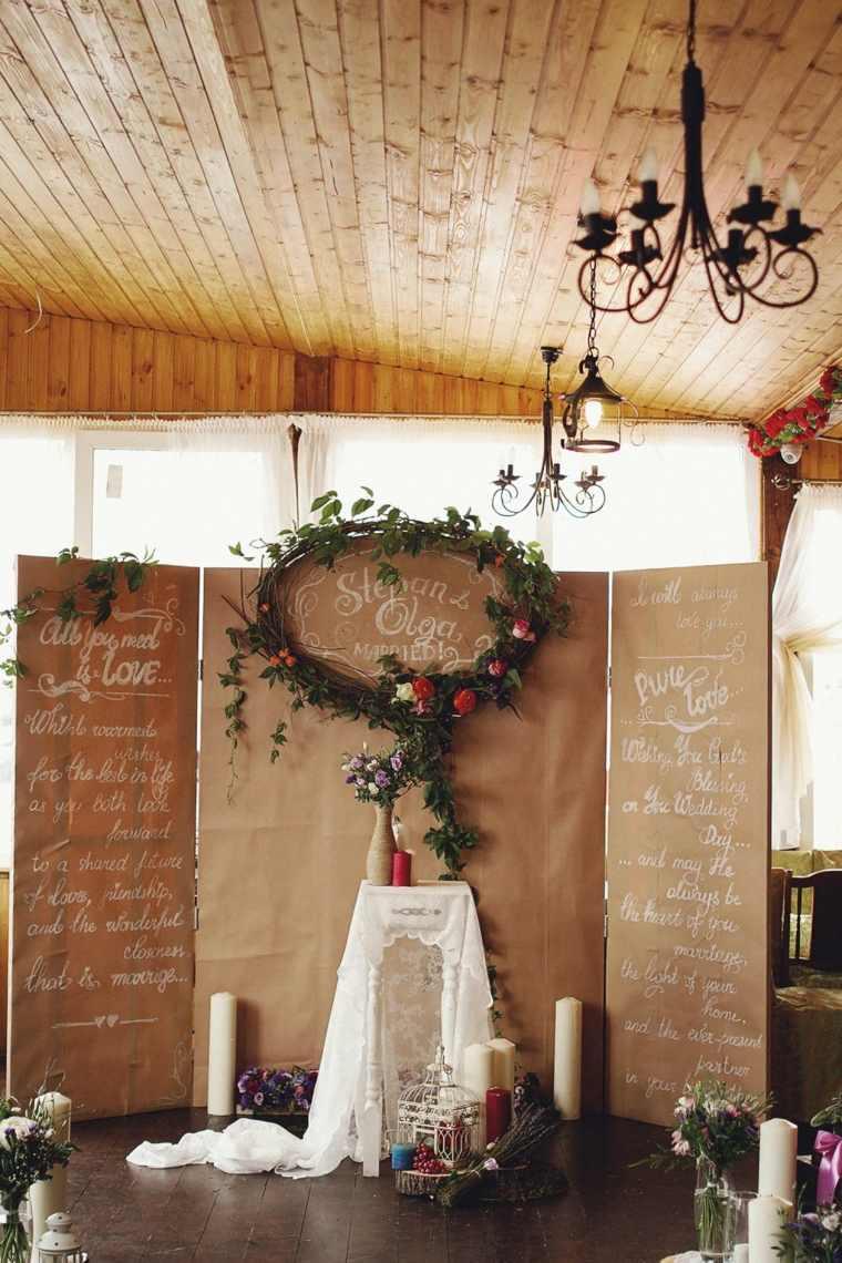 photocall para bodas estilo diseno original ideas