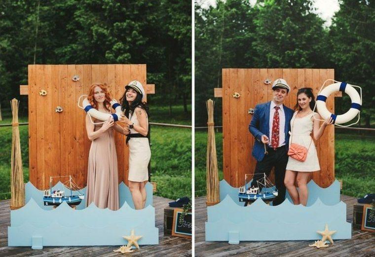 photocall para bodas estilo nautico ideas