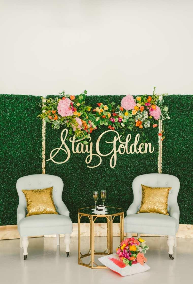 photocall para bodas sillones ideas