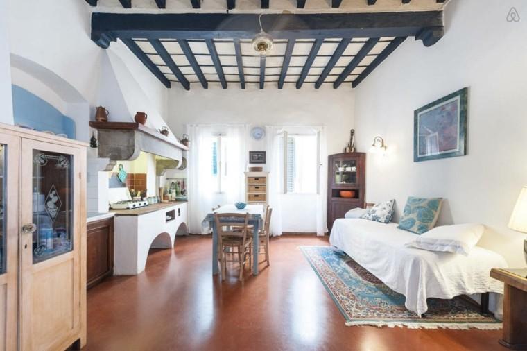 piso loft techo madera