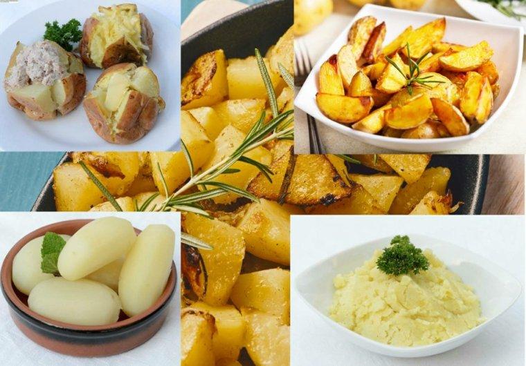 plantación de patatas barriles