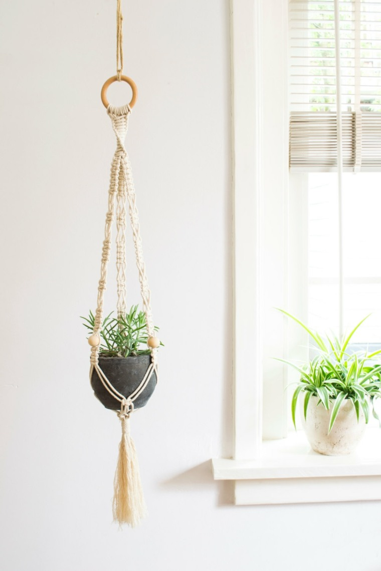 Plantas colgantes ideas para el interior for Nudos para colgantes