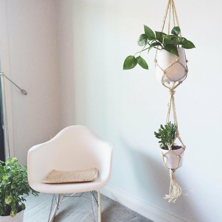 Plantas colgantes ideas para el interior - Macetas para colgar ...
