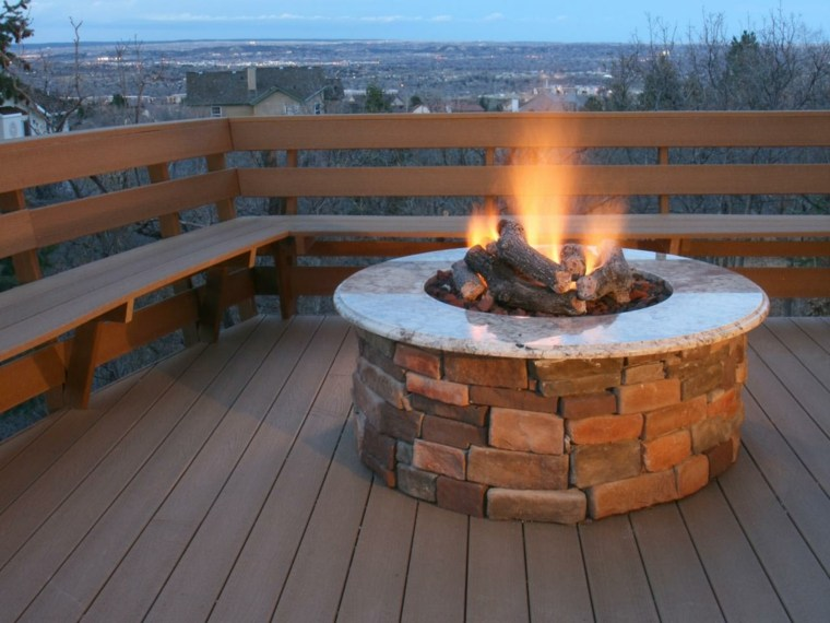 pozo fuego redondo terraza