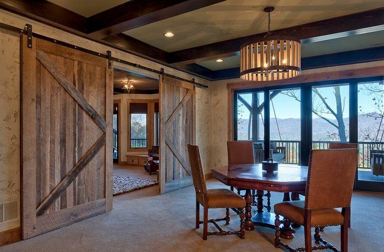 puertas corredera calidos ambientaciones rustico