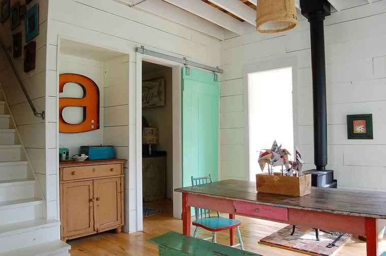 puertas corredera colorido interiores imagenes