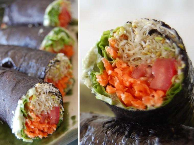 recetas vegetarianas fáciles sushi