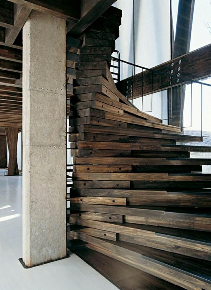 reciclada madera inusual casas estilos lineas