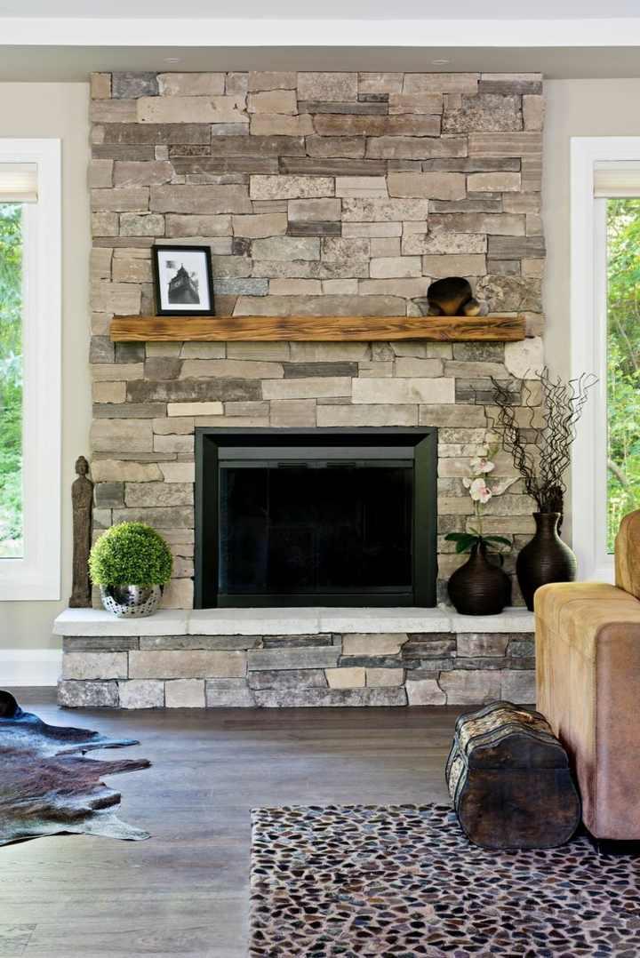 Decorar paredes dise o de acento y muebles junto a la chimenea - La chimenea muebles ...