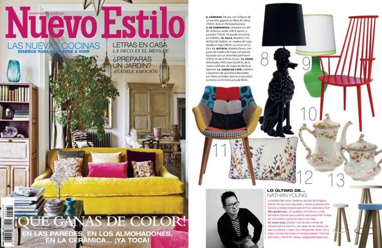 revista de decoración nuevo estilo interior